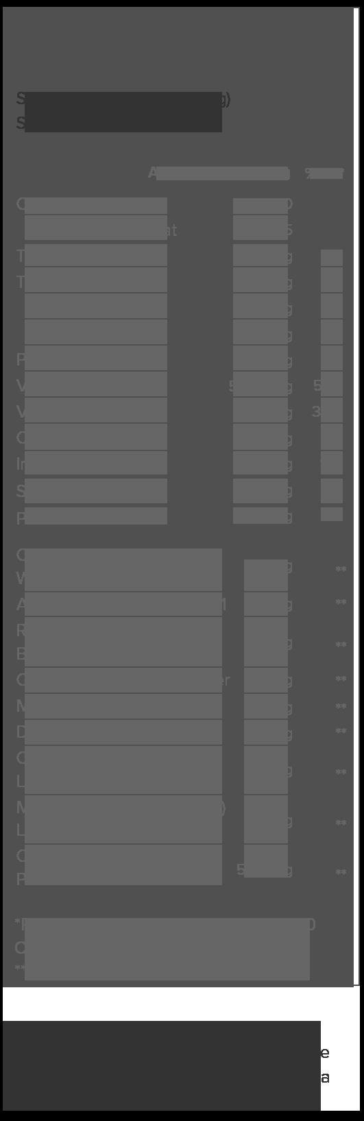 Genesis Acai Berry Supplement Facts