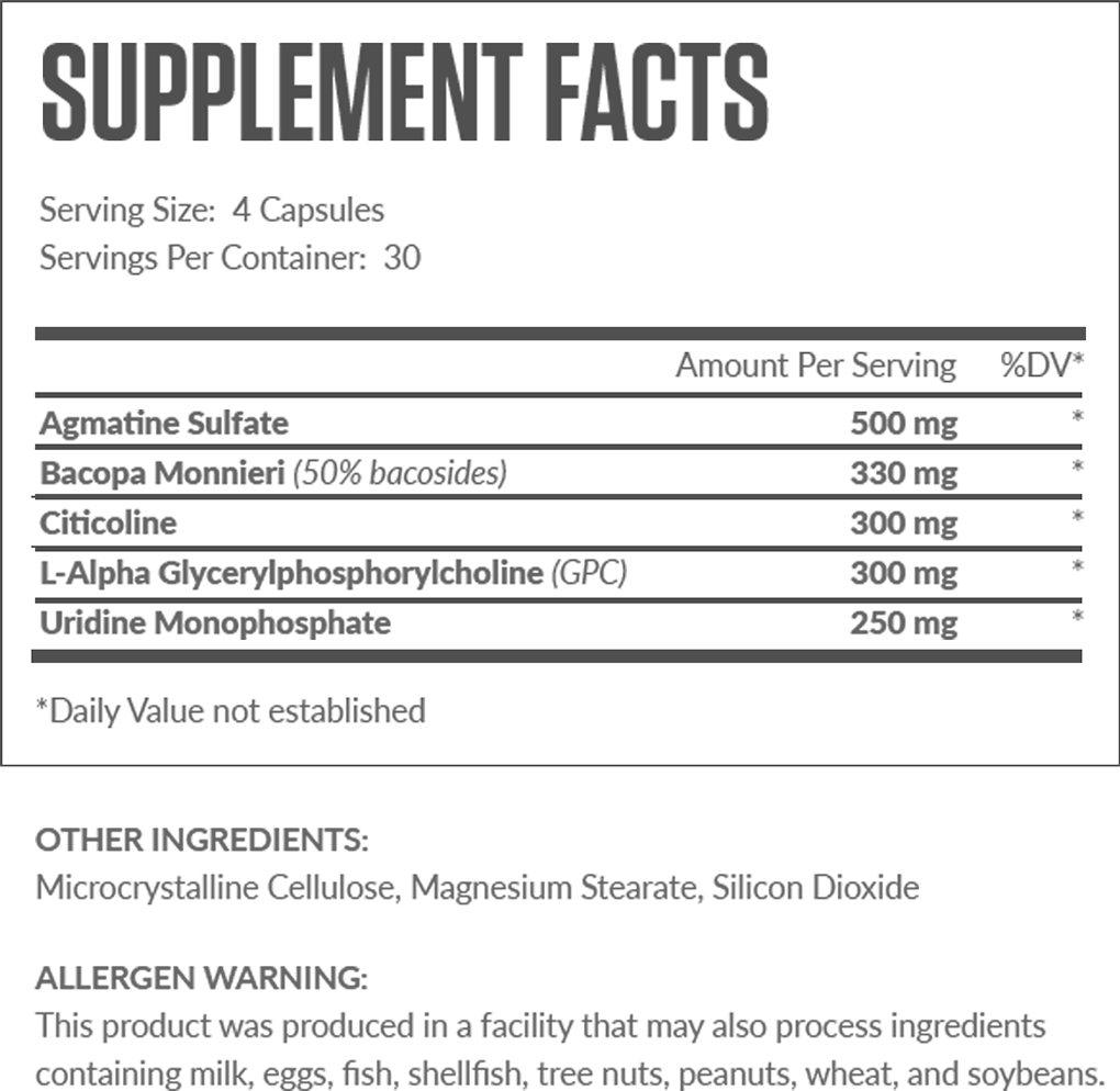 Ascend Supplement Facts