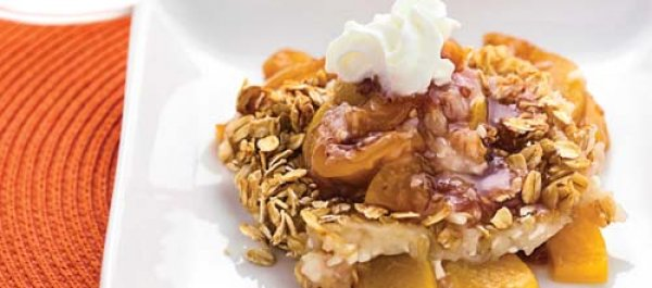 Recipe of the Week: High-Protein Peach Cobbler