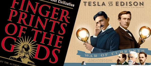 Cool Stuff of the Week: Tesla vs. Edison, Fingerprints of the Gods, House of Cards Playing Cards, and More...